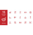 spoon icons vector image vector image