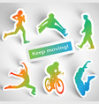 sports stickers vector image