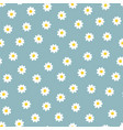 summer seamless floral pattern - hand drawn trendy vector image