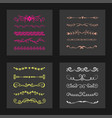 text separator decoratice divider book typography vector image vector image