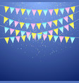 color festival triangular flag garland decoration vector image