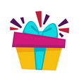 happy birthday gift box design template for vector image