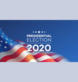 american presidential election 2020 background vector image