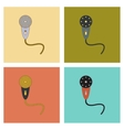 assembly flat icons Kids toy microphone vector image vector image