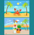 beach summer vacation or holiday seaside shore vector image