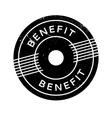 Benefit rubber stamp vector image vector image