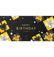 birthday concept banner horizontal with realistic vector image vector image