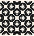 black and white abstract floral seamless pattern vector image