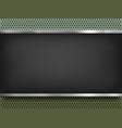 blackboard on metal background vector image vector image