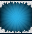 blue firtree and sunburst vector image vector image