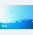 blue medical background concept poster design vector image