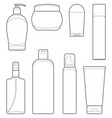 bottles of cosmetic products vector image vector image