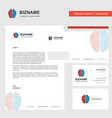 brain business letterhead envelope and visiting vector image vector image