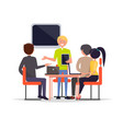 business meeting of people vector image vector image