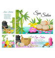 cartoon spa salon composition vector image