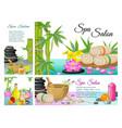 cartoon spa salon composition vector image vector image