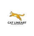 cat jump design concept template vector image