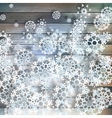 Christmas snowflakes on wood plus EPS10 vector image vector image