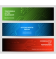 circuit board technology banners set