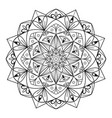 Circular pattern mandala for coloring on a white