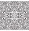 coloring page psychedelic mandala waves ornament vector image vector image