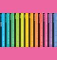creative calendar 2020 with rainbow design vector image
