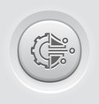 cryptography settings button icon vector image vector image