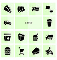 fast icons vector image vector image