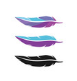 feather icon logo vector image