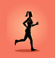 Female figure jogging