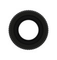 flat icon of black car tire transport vector image