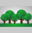 forest with tree ecology concept paper art style vector image