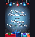 happy new year merry christmas concept gift box vector image vector image