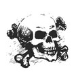 human skull and cross bones vector image vector image