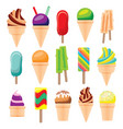 ice cream set isolated on white background vector image vector image