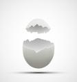 icons broken chicken egg vector image vector image