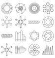 Infographic items icons set outline style