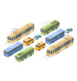 isometric public and passenger transport vector image vector image