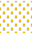 labor day yellow helmet pattern seamless vector image