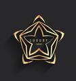 luxury label logo template vector image vector image