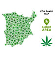 marijuana mosaic koh samui map vector image