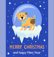 merry christmas and happy new year 2018 symbol vector image