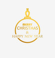 merry christmas and happy new year ontour of the vector image vector image