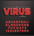modern bold font and alphabet font with shadow vector image vector image