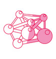 molecule component chemistry vector image