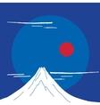 Mountain Fuji at night Japanese landscape vector image vector image