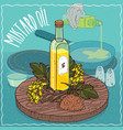 mustard seed oil used for frying food vector image