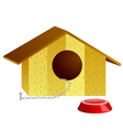 of doghouse vector image vector image