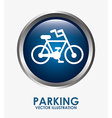 parking sign vector image vector image