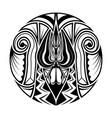 polynesian ethnic circle abstract tattoo vector image vector image